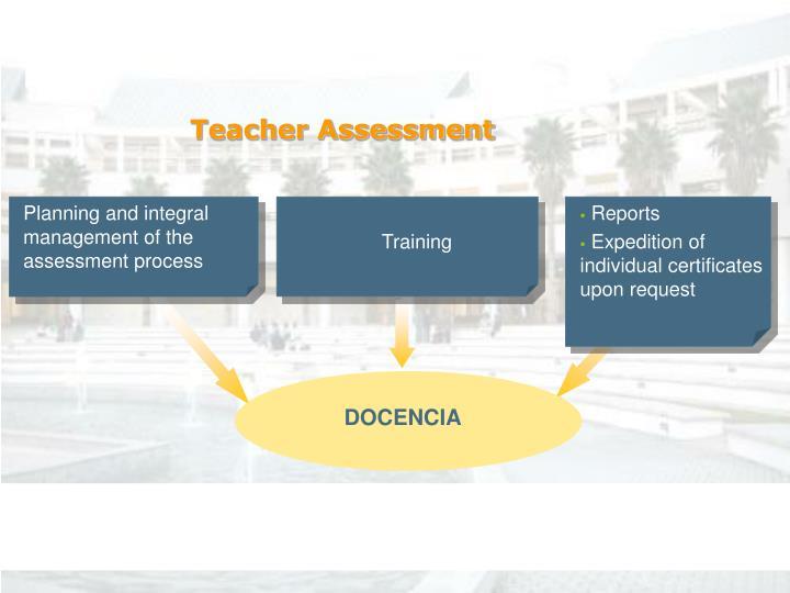 Teacher Assessment