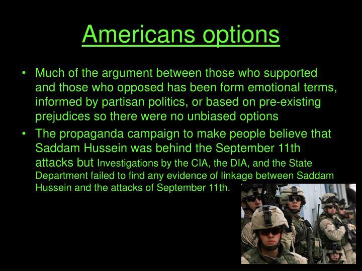 Americans options