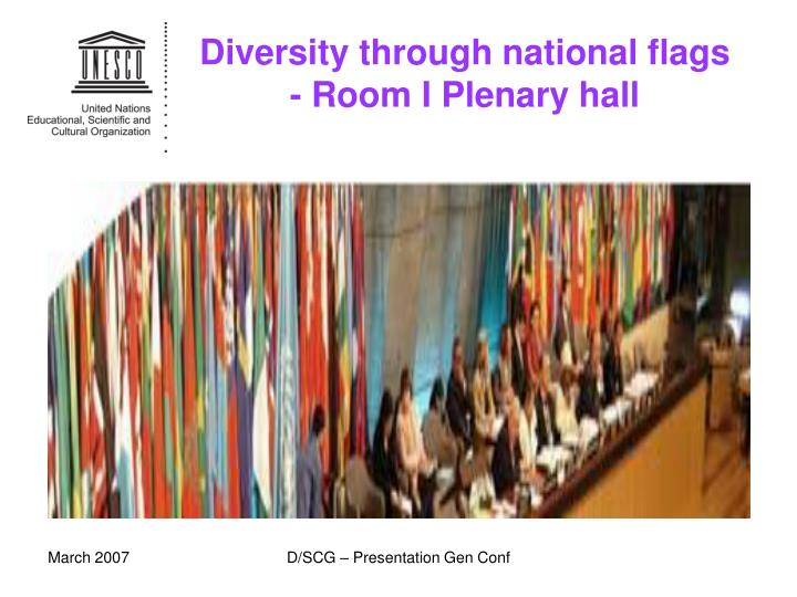 Diversity through national flags room i plenary hall