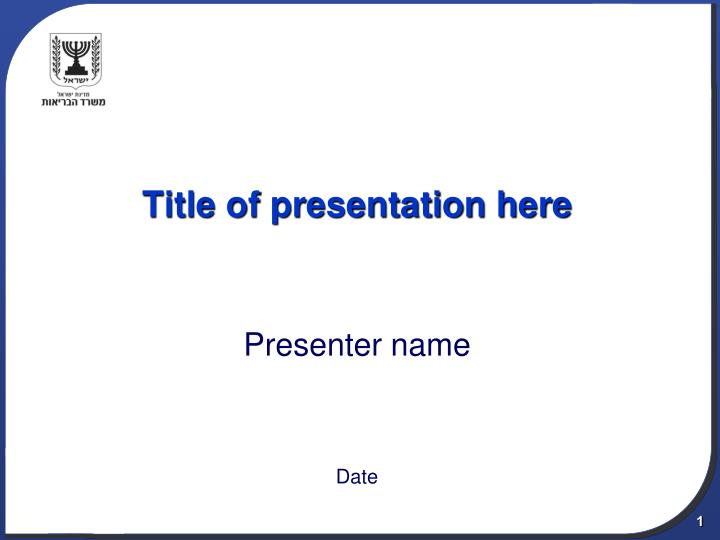 title of presentation here n.