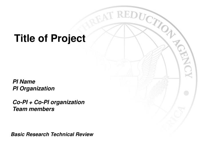 title of project n.