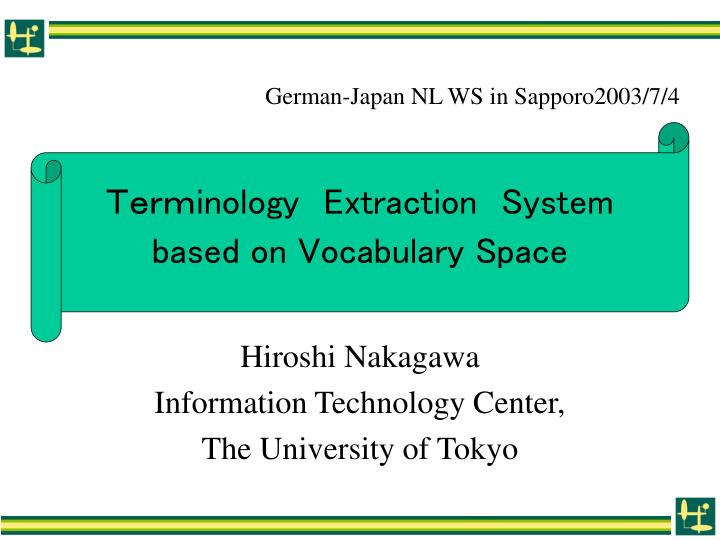 inology e xtraction system based on vocabulary space