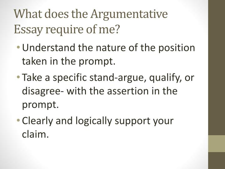 my argumentative essay An argumentative essay states your position on a certain topic and explains why you hold that opinion using evidence let our professionals help you write an impressive essay.