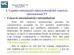 2 cambio estructural e intersectorial del comercio internacional vi
