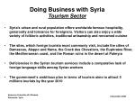 doing business with syria tourism sector1