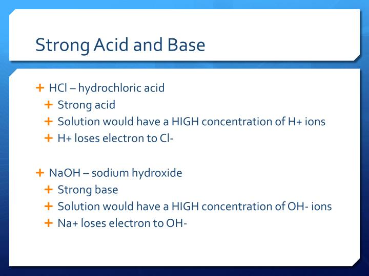 Strong Acid and Base