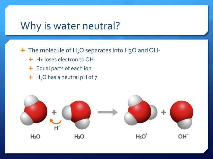 Why is water neutral?