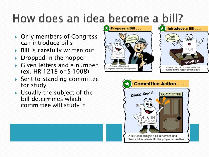 hypothetically proposing a bill to congress