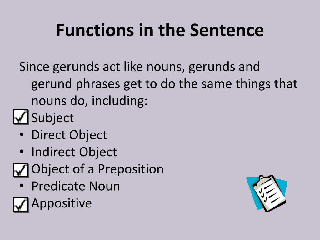 Gerunds & Gerund Phrases