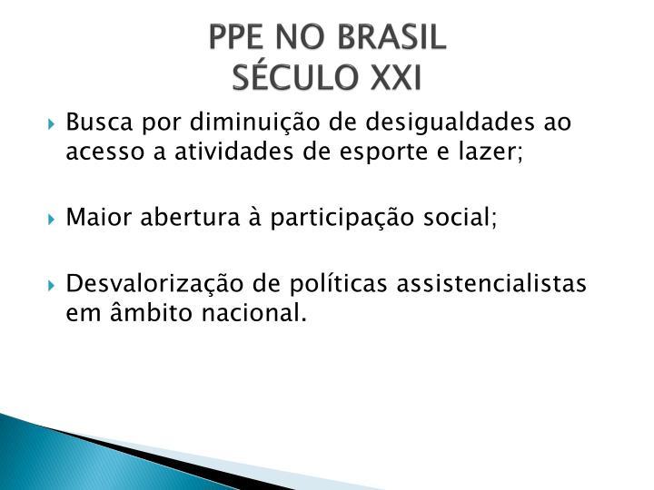 PPE NO BRASIL