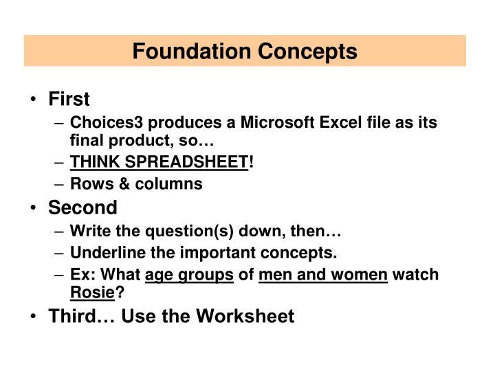 Foundation Concepts