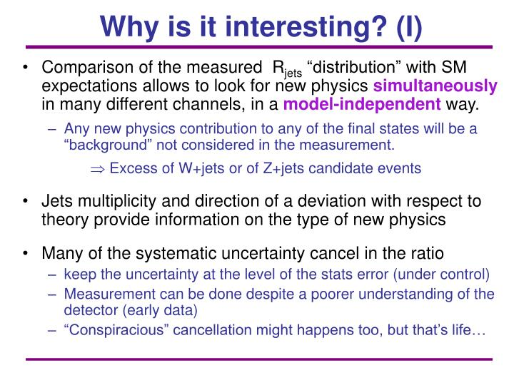 Why is it interesting? (I)
