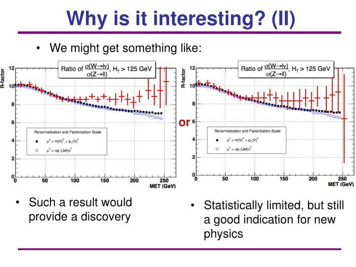 Why is it interesting? (II)