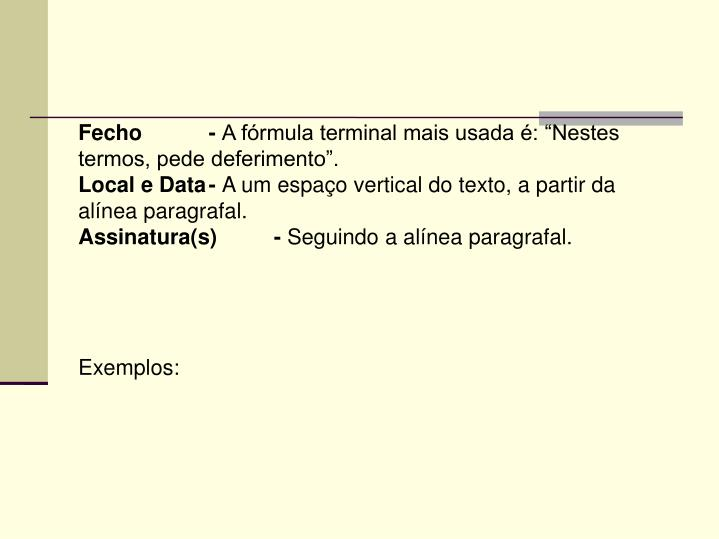 Fecho-