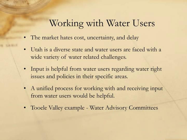 Working with Water Users