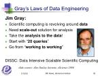 gray s laws of data engineering