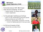 nsf award cluster exploratory clue
