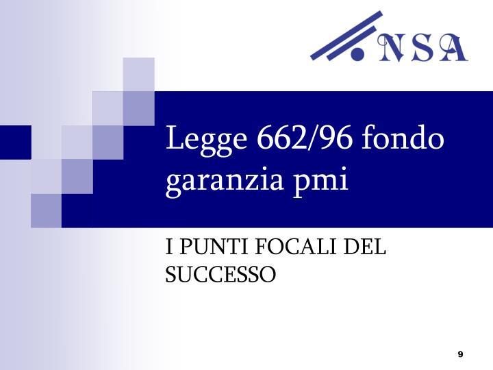 Legge 662/96 fondo garanzia pmi