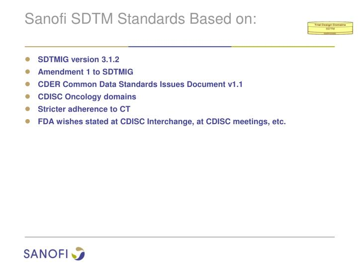 Sanofi SDTM Standards Based on: