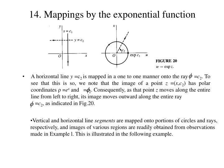 14 mappings by the exponential function2