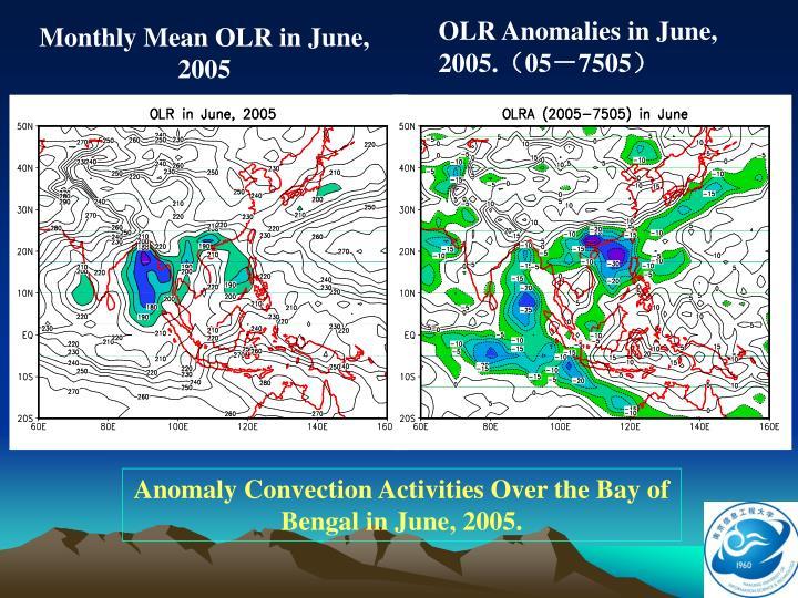 OLR Anomalies in June, 2005.