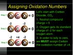 assigning oxidation numbers1