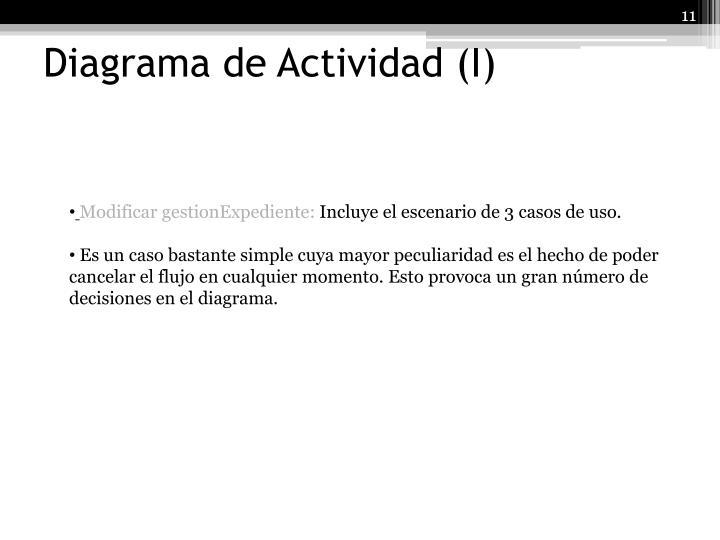 Diagrama de Actividad (I)