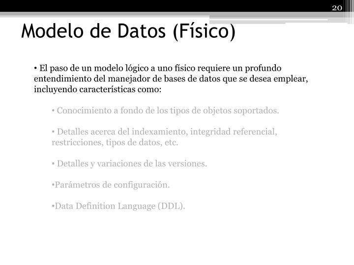 Modelo de Datos (Físico)