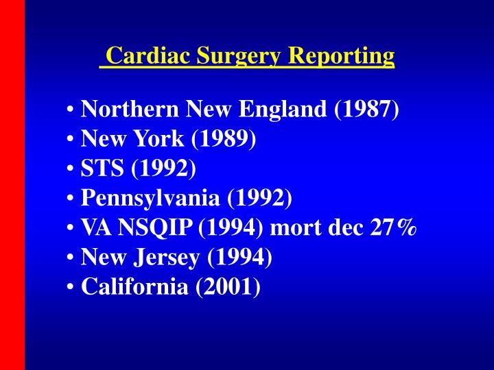 Cardiac Surgery Reporting