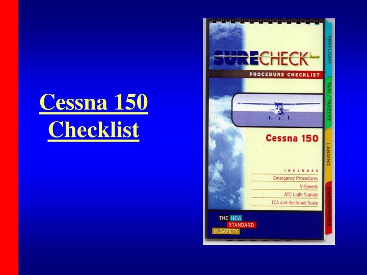 Cessna 150 Checklist