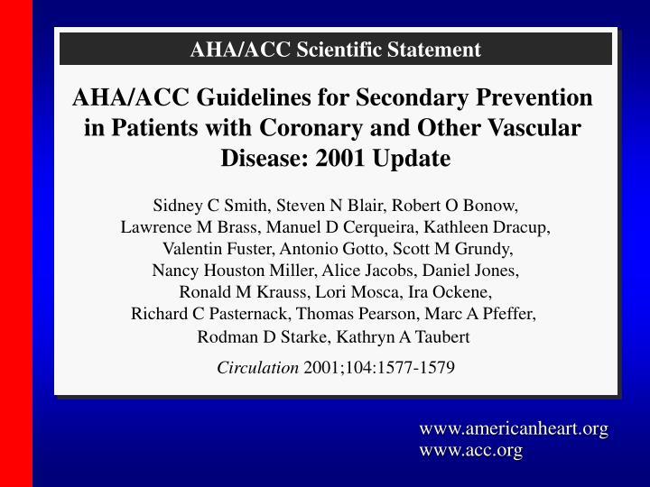 AHA/ACC Scientific Statement