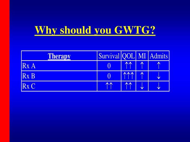 Why should you GWTG?