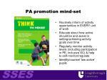 pa promotion mind set