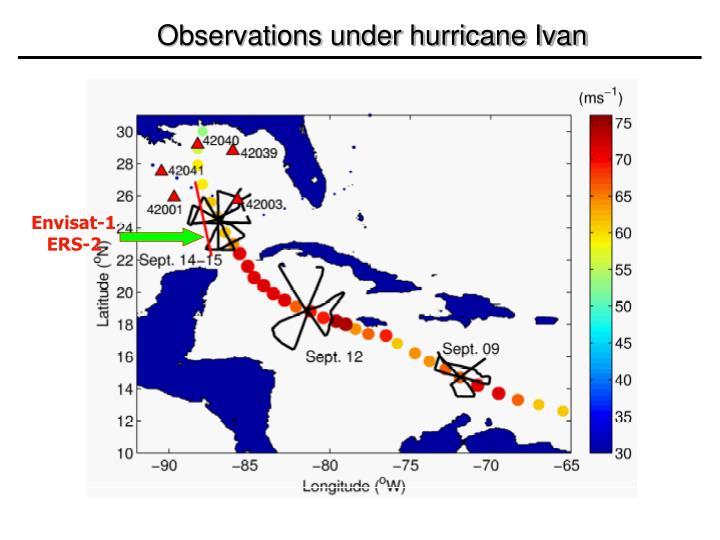 Observations under hurricane Ivan