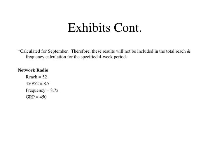 Exhibits Cont.