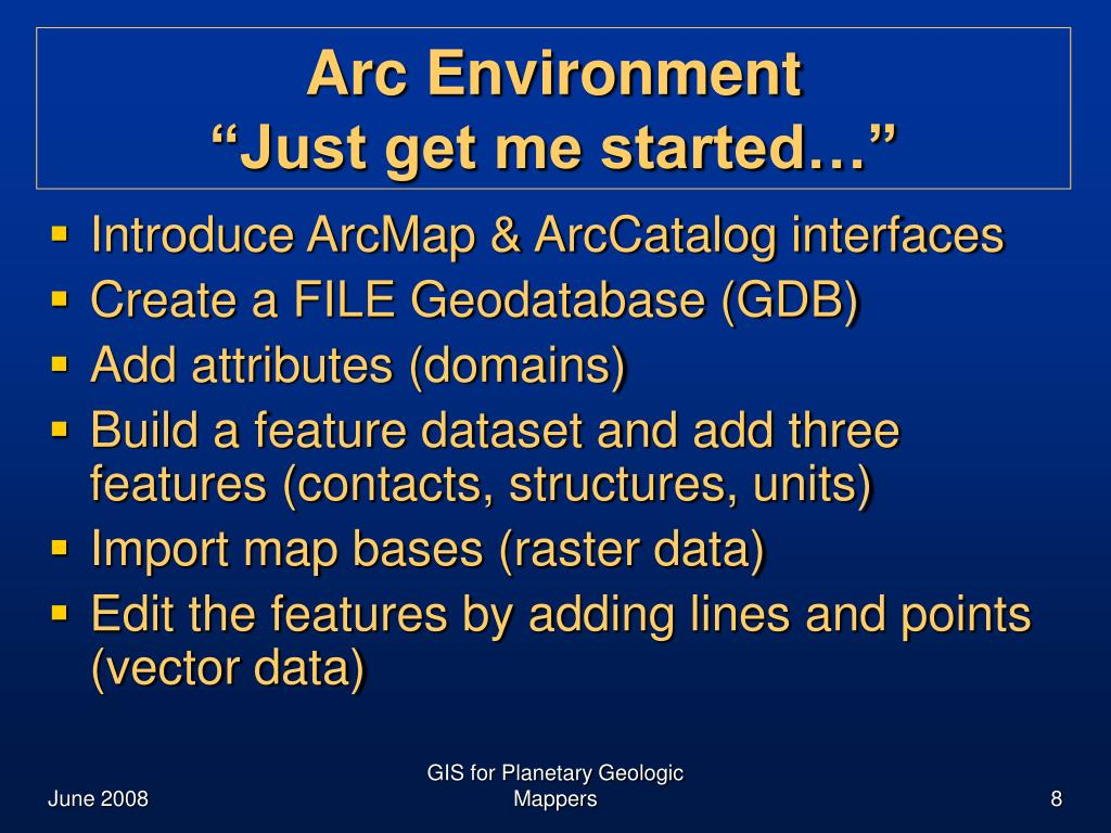 PPT - GIS for Planetary Geologic Mapping PowerPoint
