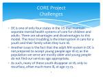 core project challenges