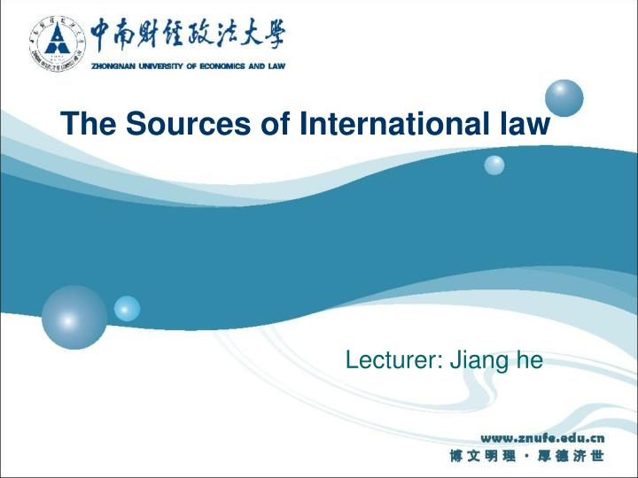 the sources of international law n.