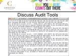 discuss audit tools