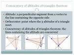 concurrency of altitudes of triangles theorem