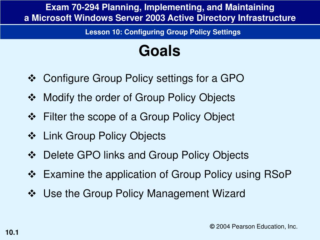 Ppt Configure Group Policy Settings For A Gpo Modify The Order Of Group Policy Objects Powerpoint Presentation Id 3648742