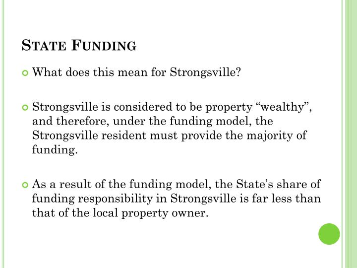 State Funding