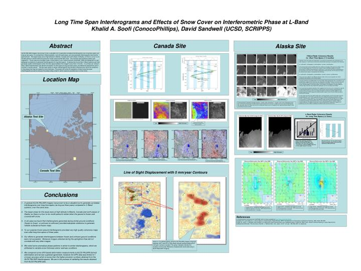 Long Time Span Interferograms and Effects of Snow Cover on Interferometric Phase at L-Band