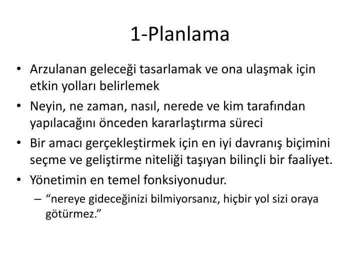 1-Planlama