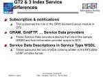 gt2 3 index service differences