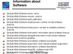information about software