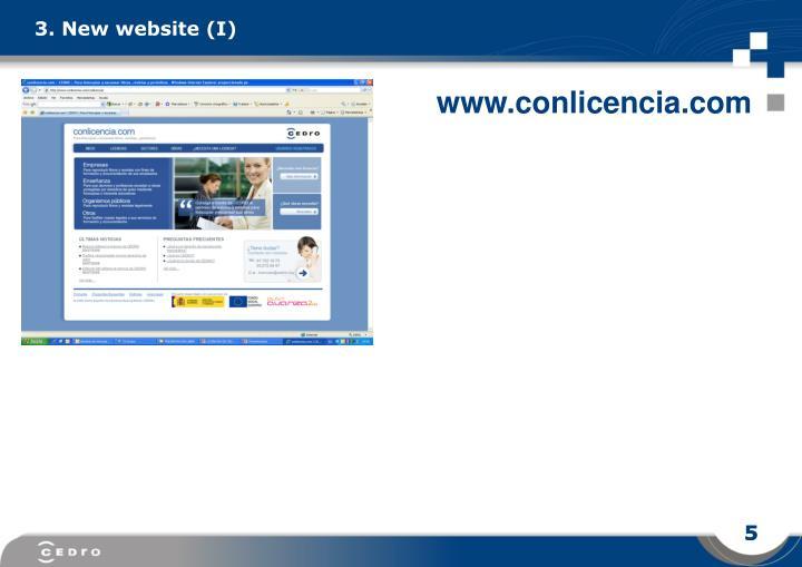 3. New website (I)