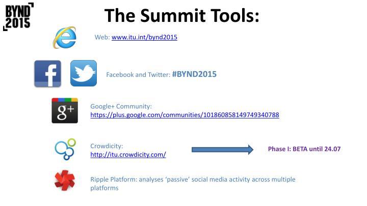 The Summit Tools: