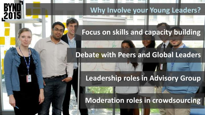 Why Involve your Young Leaders?