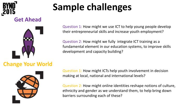Sample challenges